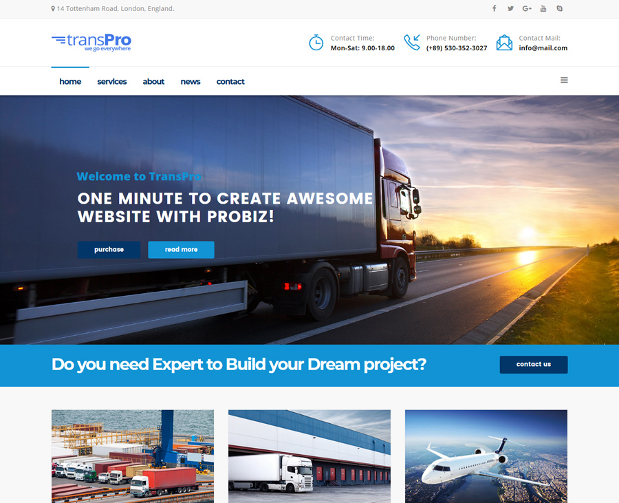 5 Top Transportation & Logistics Joomla Templates 2019