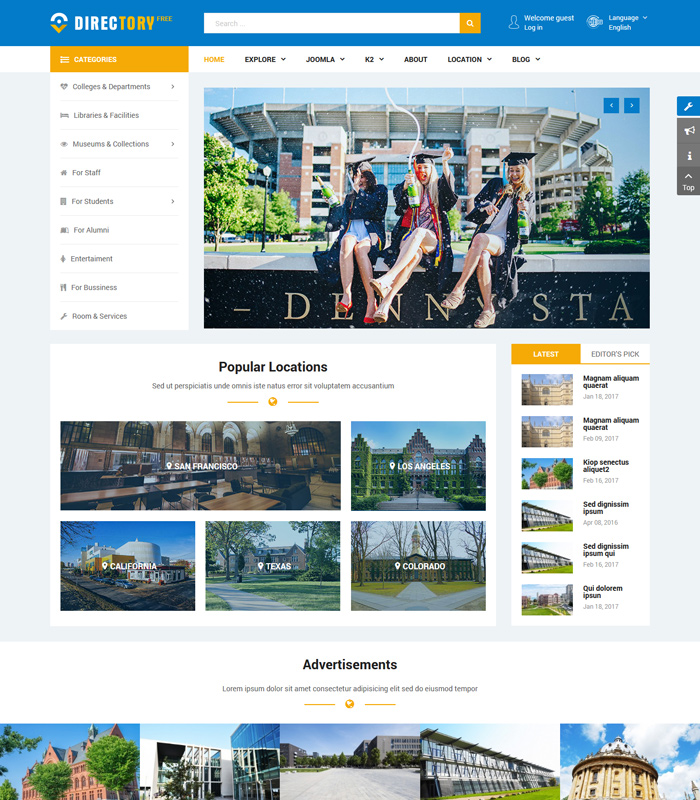 7 Best Free Joomla Templates for Multipurpose in 2020