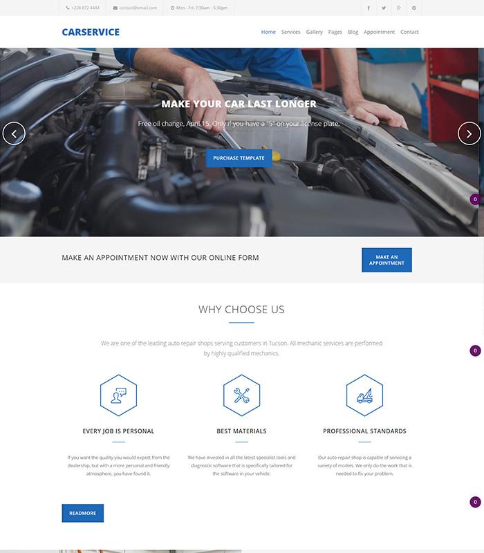 Best Joomla Templates for Autoparts, car shop, auto service websites
