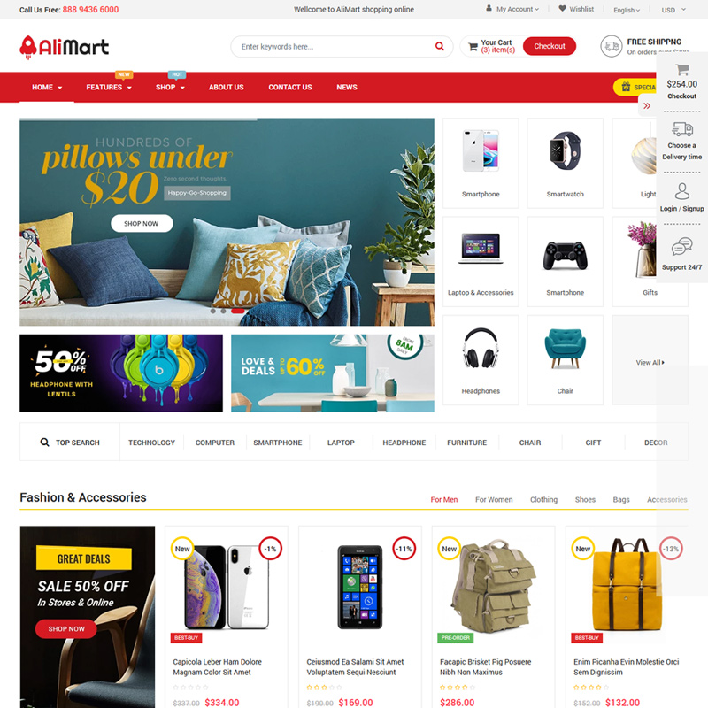 Best Free & premium Multipurpose OpenCart Themes 2019