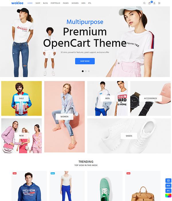 Premium Responsive OpenCart Theme - Wokiee