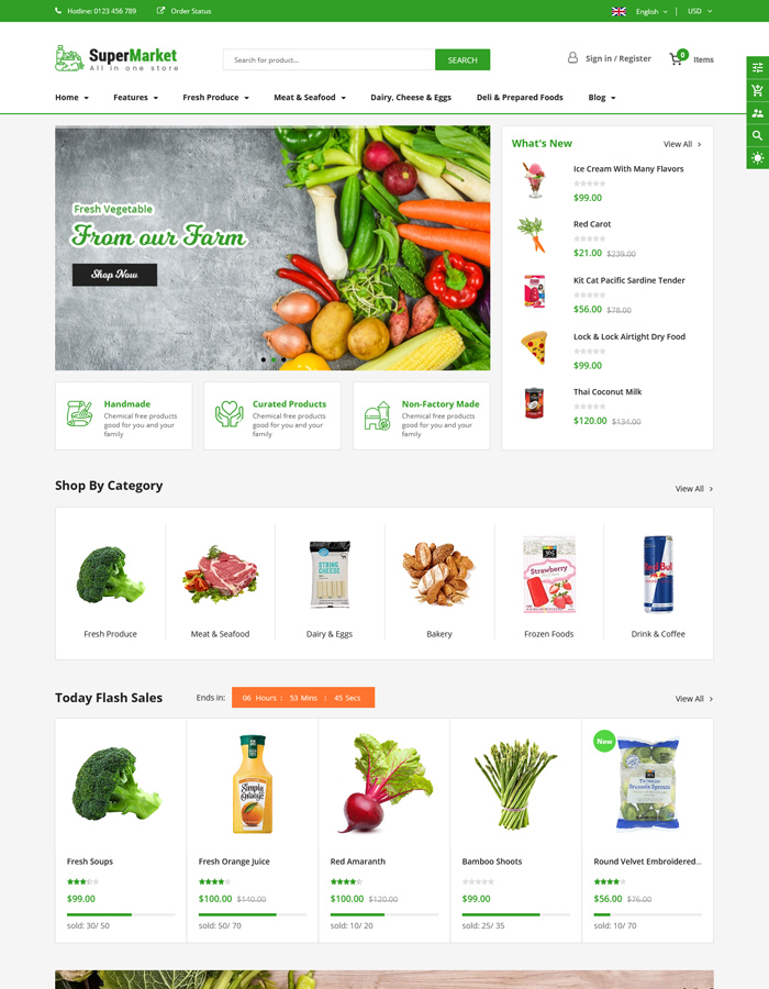 2021's Best Shopify Themes for Grocery and Food Store