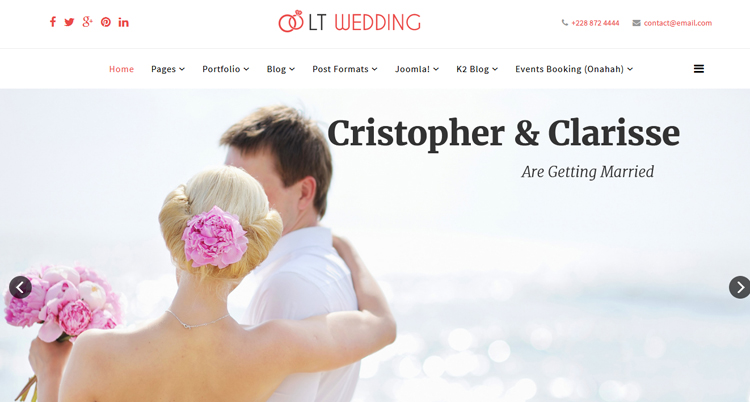 10 Best Free And Premium Joomla 3 X Templates For Wedding In 2018