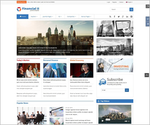 Sj Financial II - Responsive Financial Joomla Template