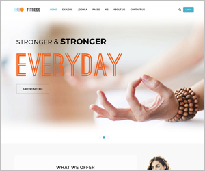 Responsive Joomla Yoga Club Center Template - SJ Fitness