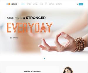 Responsive Joomla Yoga Club Center Template - SJ Fitness