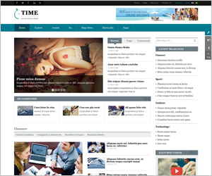 Responsive Joomla News Magazine Template - SJ Time