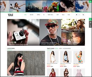 Responsive Joomla news magazine Template - SJ Tini