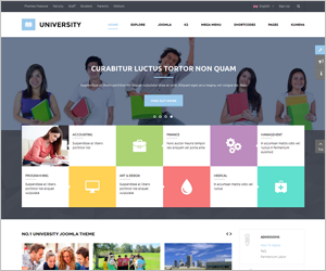 Responsive Joomla Educational Template - SJ University II
