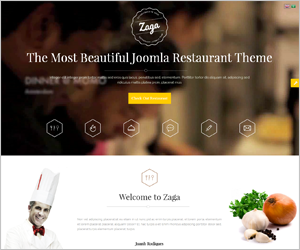 SJ Zaga - The Most Beautiful Joomla Restaurant Theme