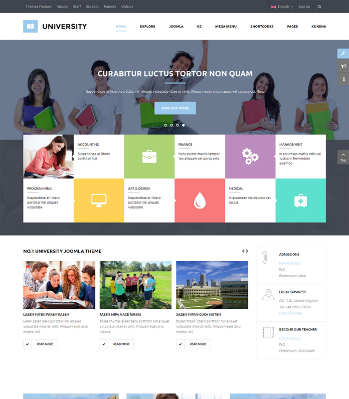 Best Education & University Joomla Template in 2019