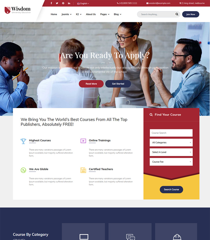 Best Education & University Joomla Template in 2019