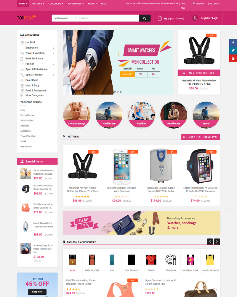 10 Top Multi Vendor | Multi Seller Marketplace OpenCart Themes 2019