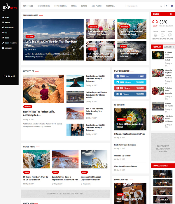 Best Info And News Site: Top 10+ Awesome Free & Premium News, Magazine Joomla 3.7