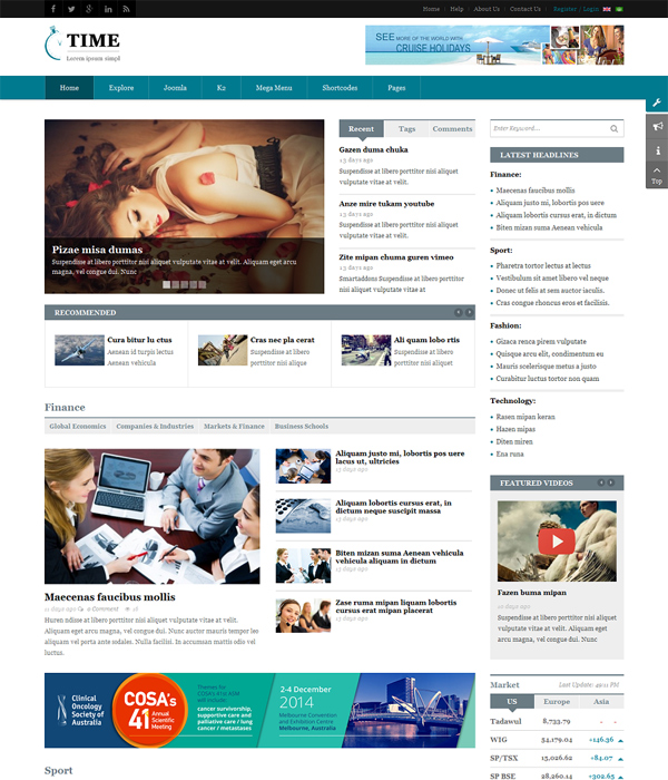 Top Awesome Free Premium News Magazine Joomla Templates - Online magazine template