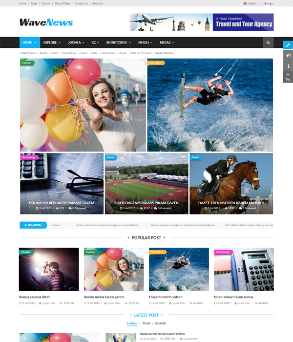 Top 10 Awesome Free Premium News Magazine Joomla 37 Templates 2017