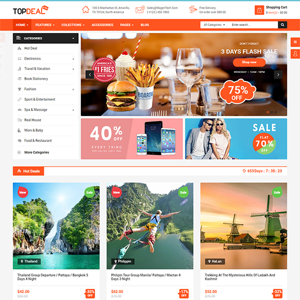 Best Premium Responsive OpenCart Theme - Topdeal