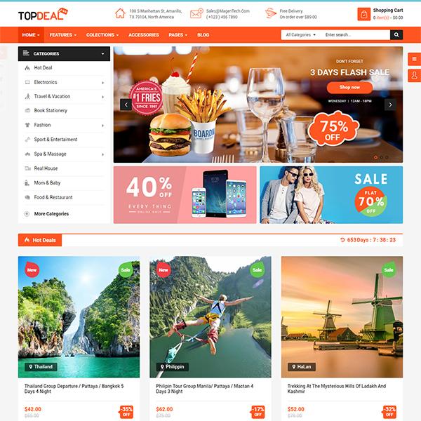 Best Premium Responsive OpenCart Theme - Topdeal