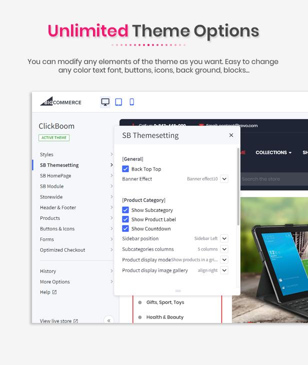 ClickBoom - Multipurpose Stencil Responsive BigCommerce Theme