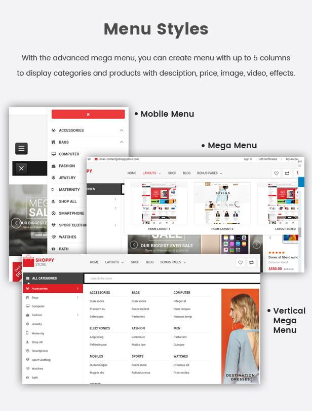 ShoppyStore - Multipurpose Stencil Responsive BigCommerce Theme & Google AMP Ready