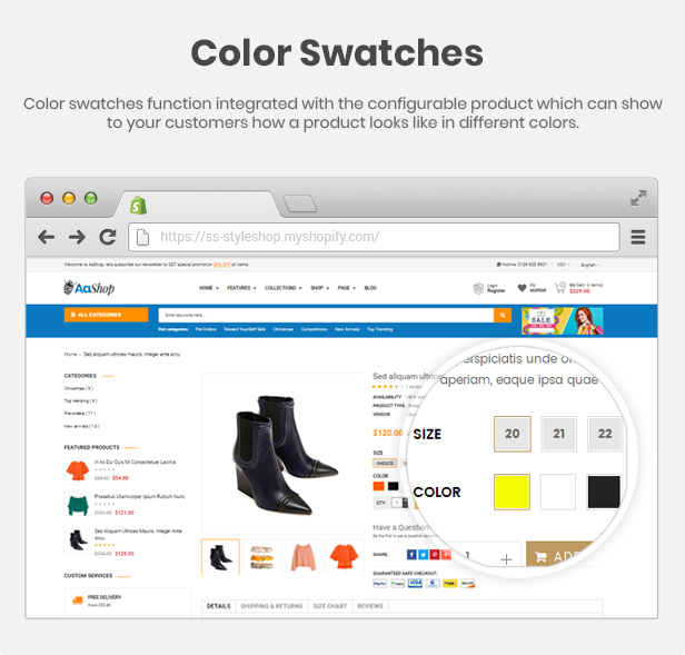 AaShop -  Multipurpose Responsive Shopify Theme with Sections