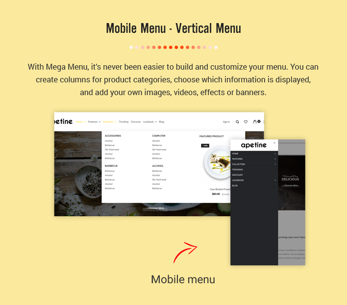 Ss Apetine - Responsive Restaurant Shopify Sections Theme