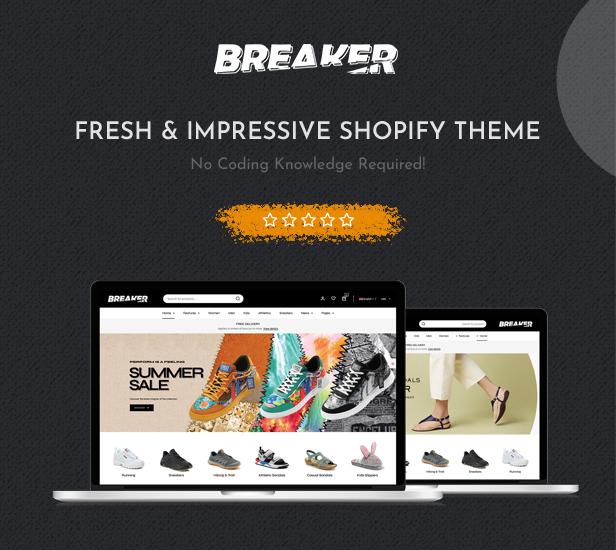 Breaker - Responsive Section Drag & Drop Shopify Theme