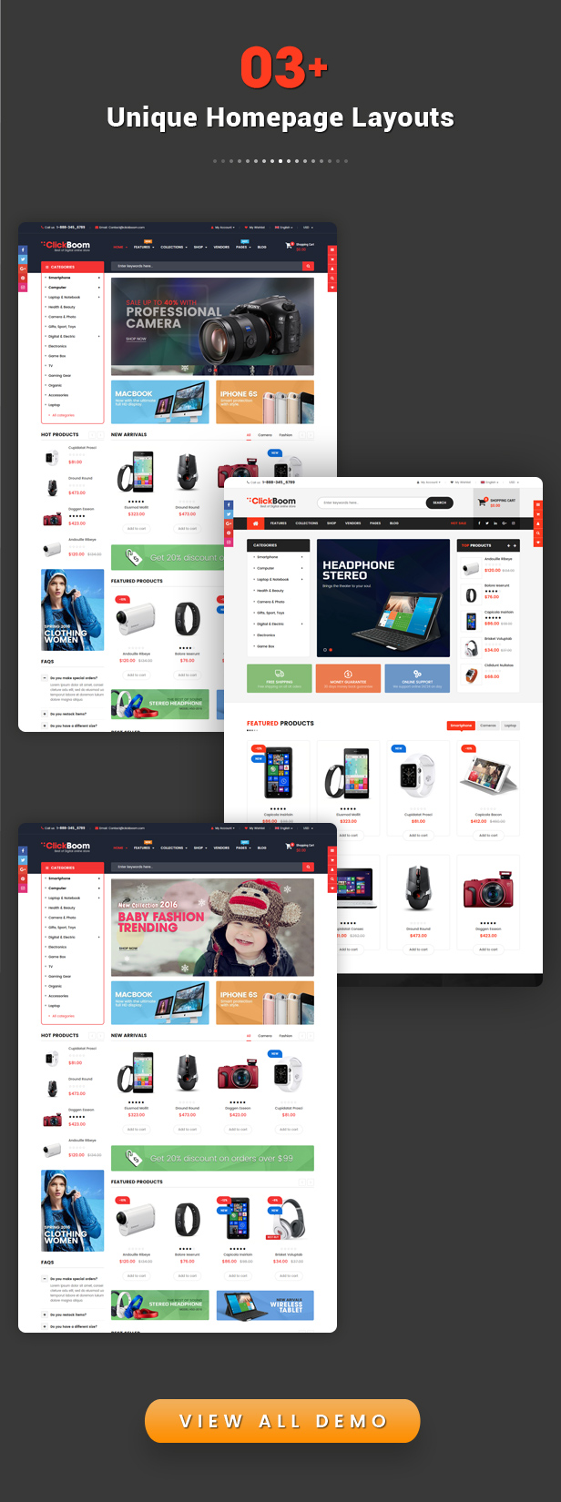 ClickBoom - Responsive Multipurpose Shopify Theme Sections Ready