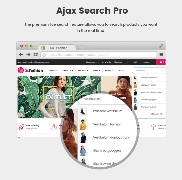 Ss Fashion - Multipurpose Drag & Drop Sectioned Shopify Theme