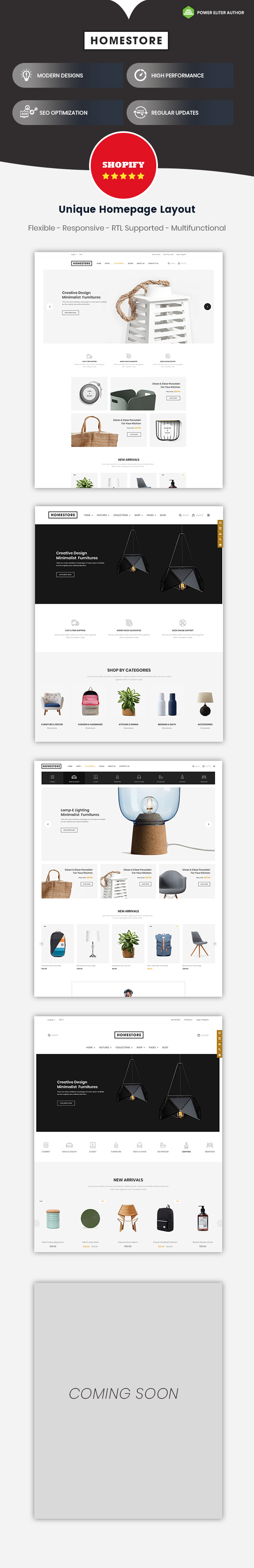 HomeStore -  Multipurpose Responsive Shopify Theme with Sections