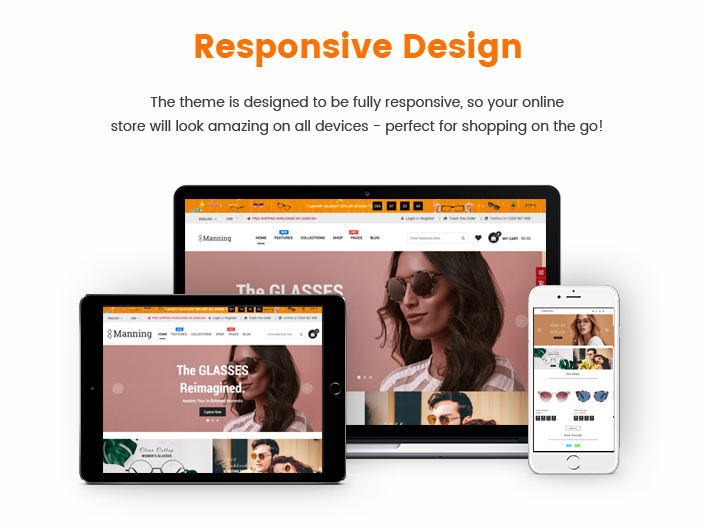 Ss Manning - Multipurpose Sections Glasses Shopify Theme