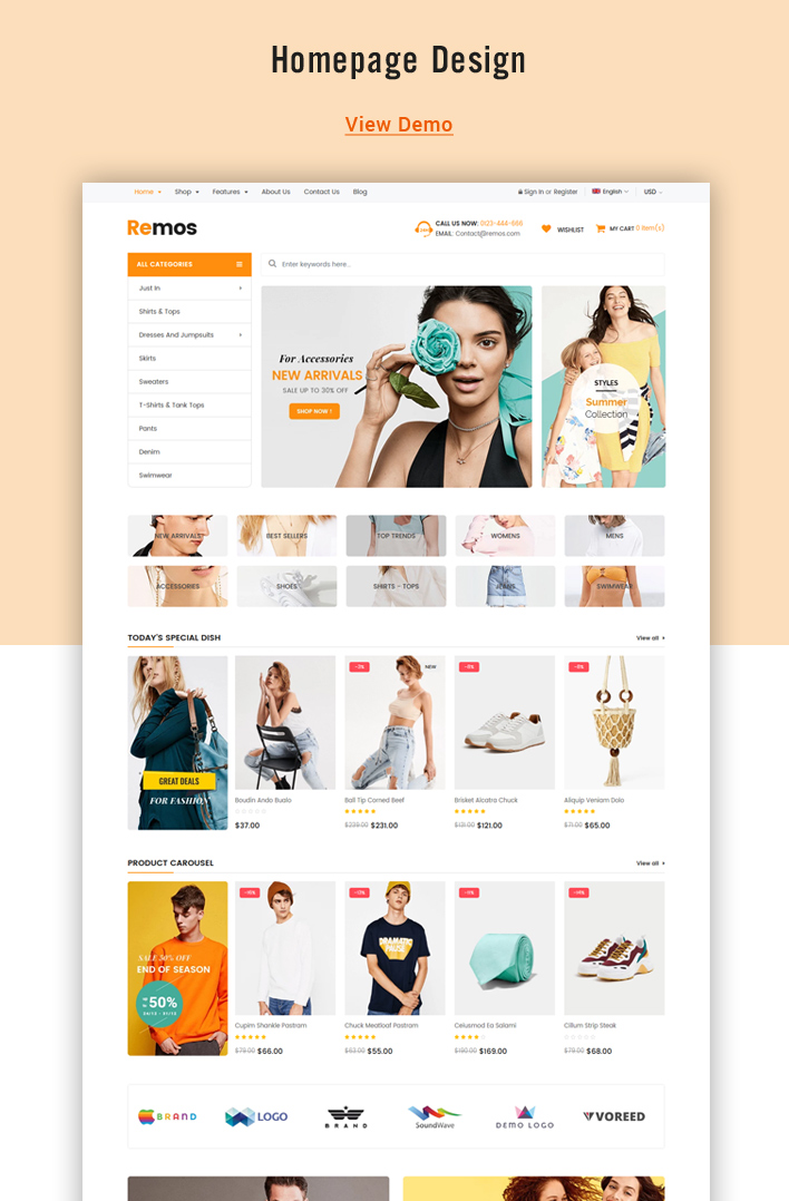 Ss Remos - Free Responsive Shopify Sections Theme
