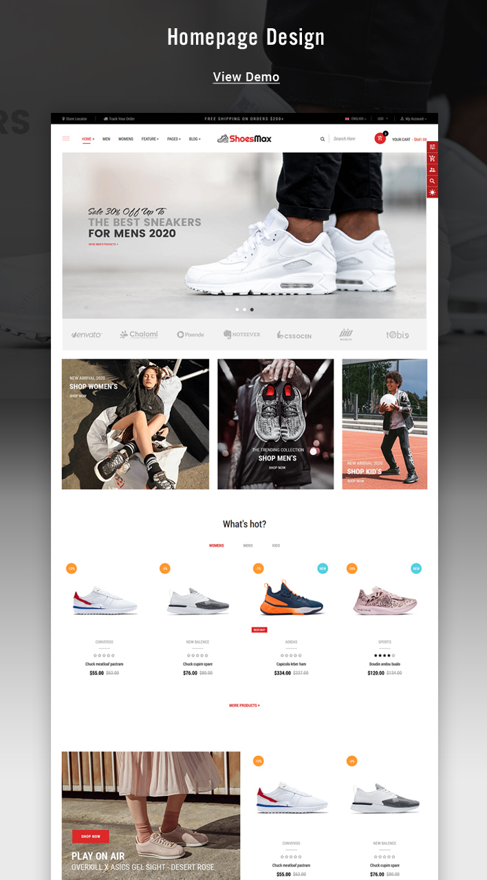 Ss ShoesMax - Minimal Shoes Shopify Sections Theme