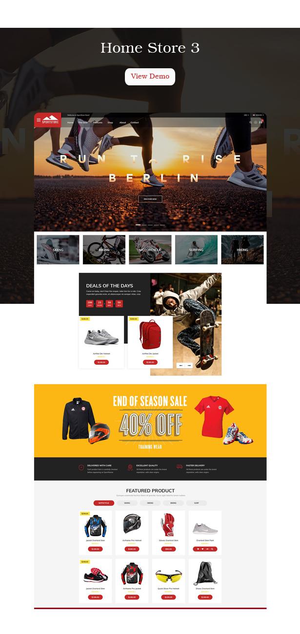 Multipurpose Sport Shopify Theme - Ss SportStore