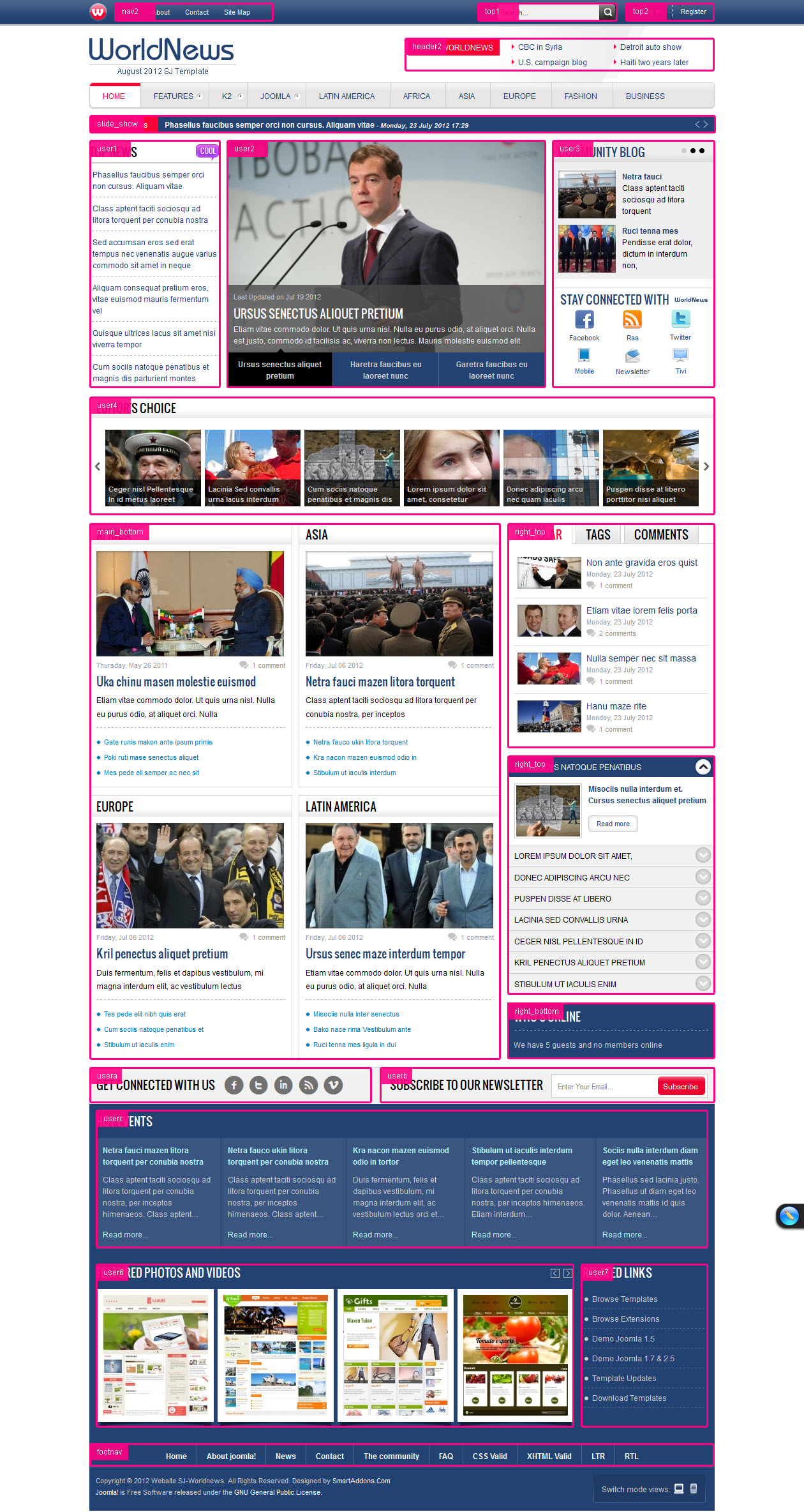joomla template for news magazine sj worldnews