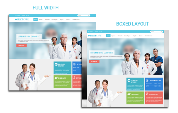 Healthcare - Boxed and Wide layout