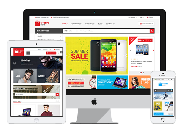 Shoppy Store - Responsive Prestashop Theme - Fully Responsive