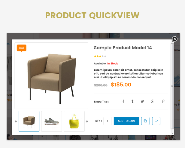 Responsive Technology WooCommerce WordPress Theme Quick view
