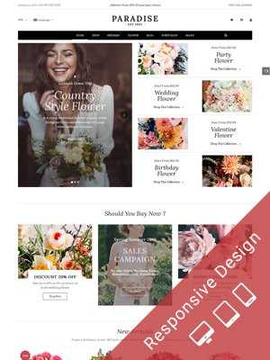 SW Paradise - Multipurpose Flower WooCommerce WordPress Theme