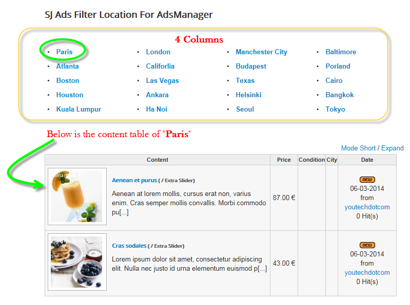 SJ Filter Location for AdsManager