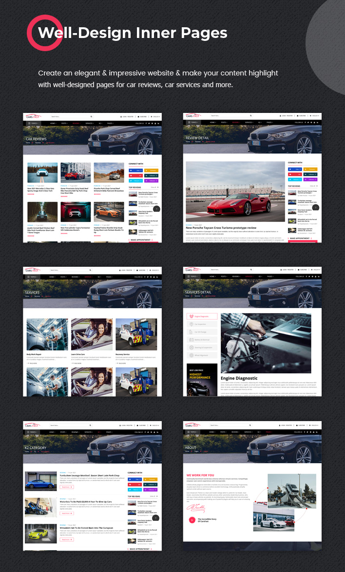 Sj CarsFast - Responsive Cars News Joomla Template