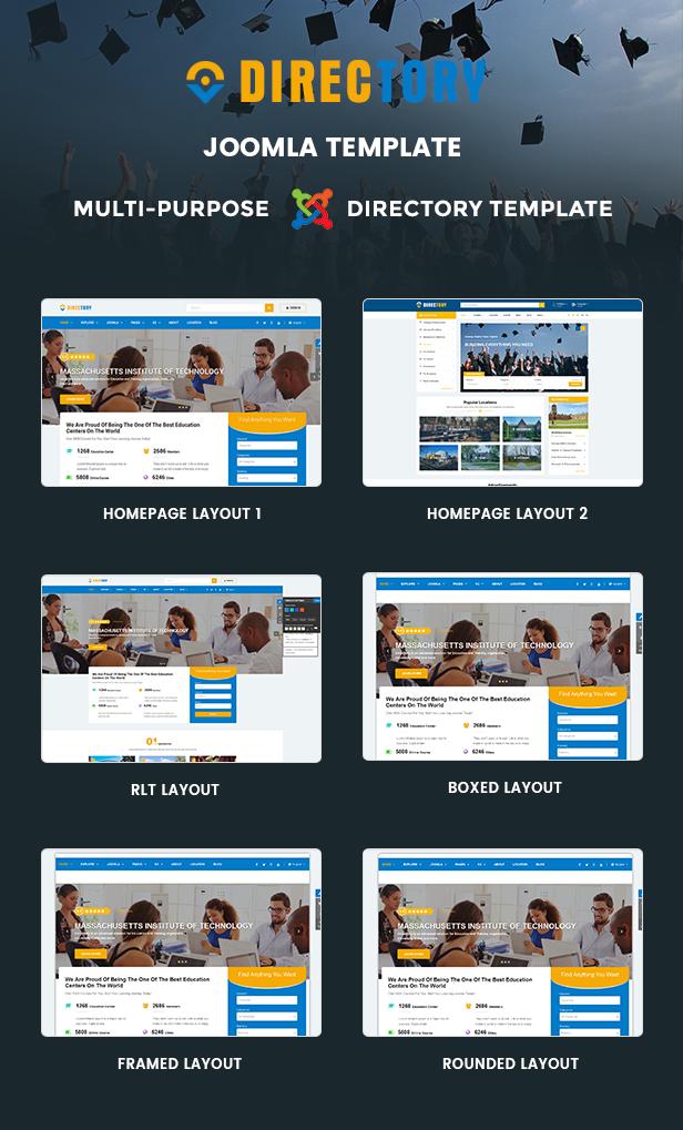 Directory Joomla Templates Directory - Customizable Directory Joomla Template - Themes & Templates