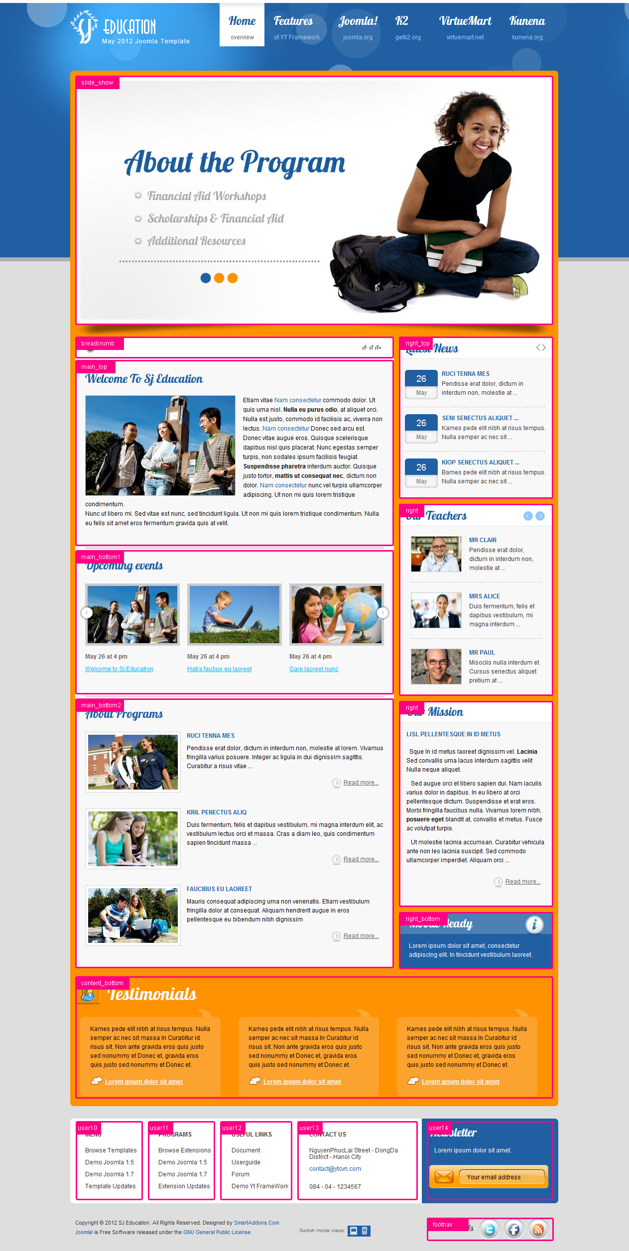 Joomla Education Template - SJ Education