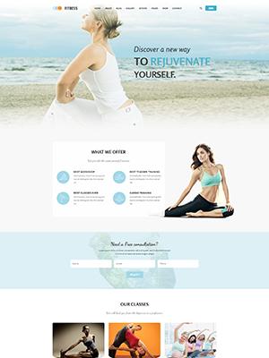 SJ Fitness - A Responsive Joomla Yoga Center Template