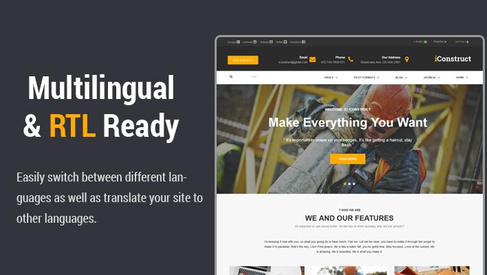 Sj iConstruct - Responsive Multipurpose Business Joomla Template