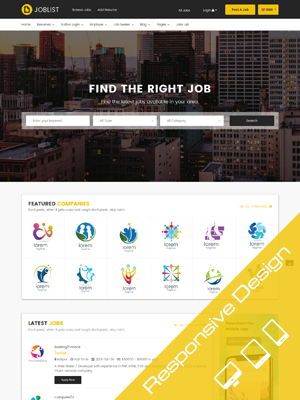 Sj JobList - Job Board & Recruitment Joomla JS Jobs Template