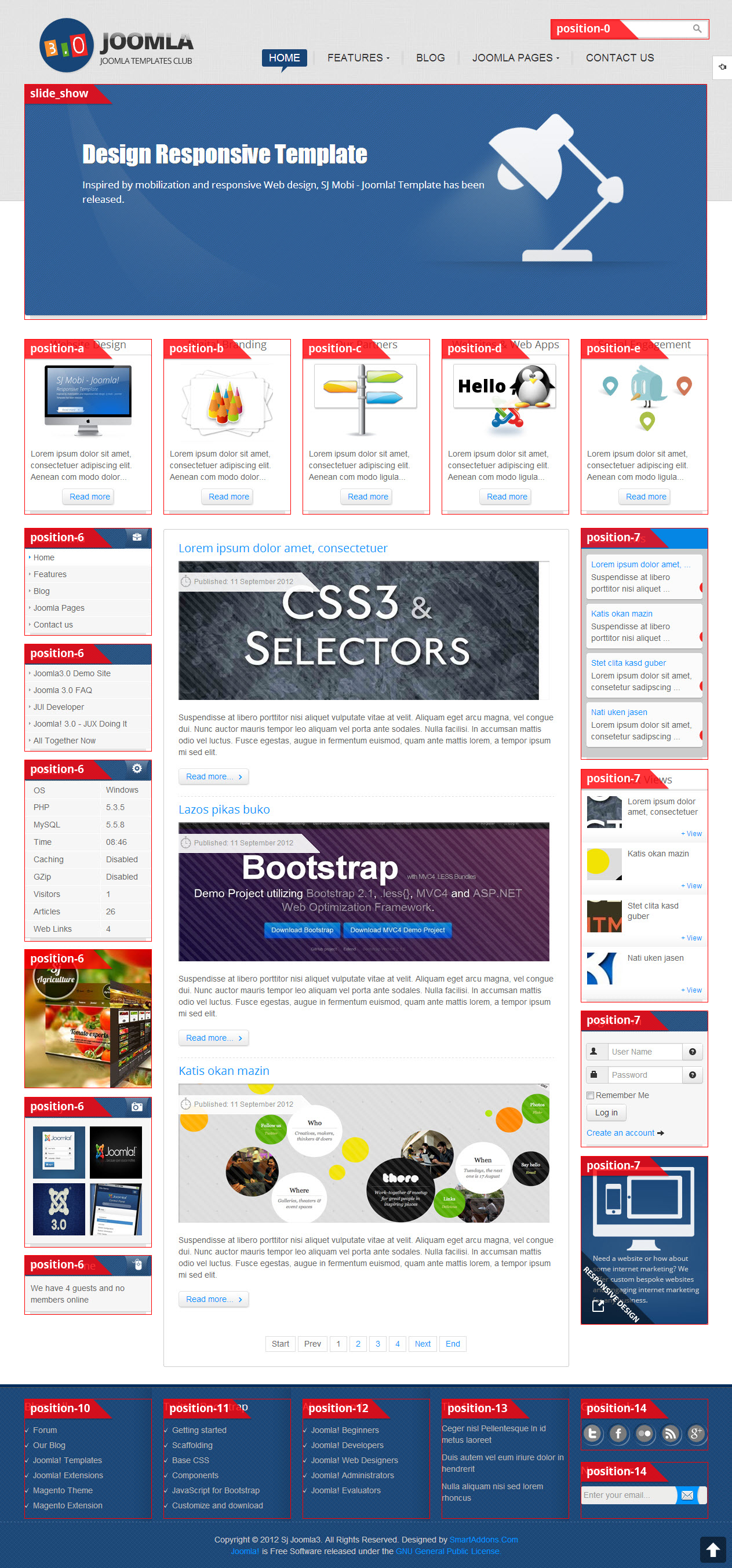 SJ Joomla3 Free Template for Joomla 3x