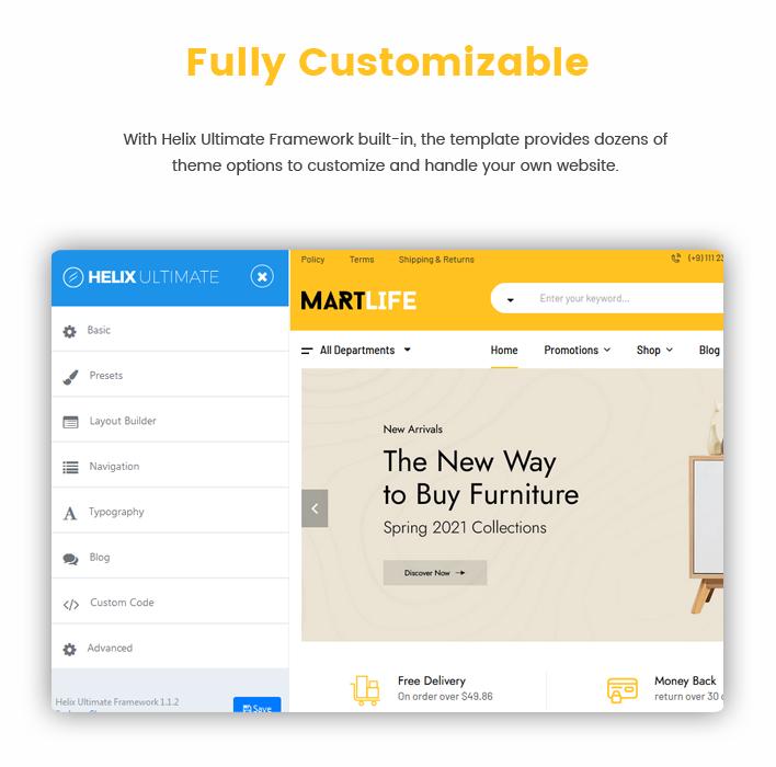 Sj MartLife - Responsive Multipurpose eCommerce Joomla Template
