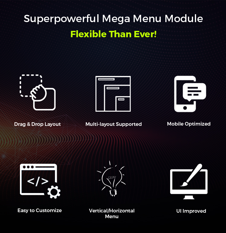 SJ Mega Menu - Drag & Drop | Mobile Optimized Joomla Module