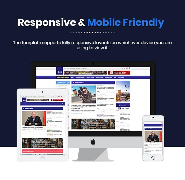 Sj MegaNews - Responsive & Professional News Magazine Joomla Template
